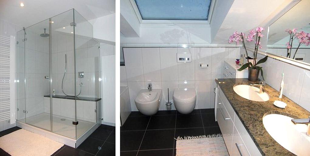 Dachschrägen-Bad in Karlsruhe